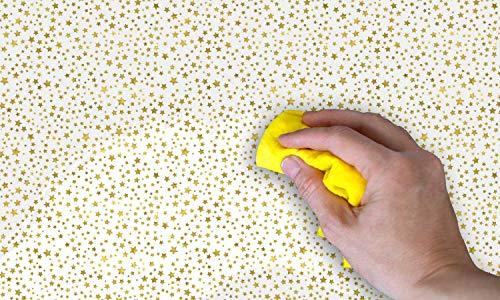 Selbst-klebend - Gold star PAT046 Möbel PVC Sticker Tapete Kugel: -