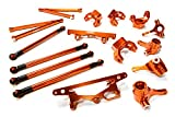Integy RC Model Hop-ups C26393ORANGE Billet Machined Suspension Kit for HPI 1/10 Scale Crawler King