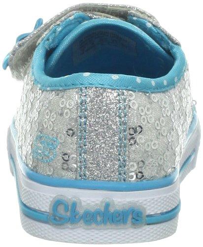 Skechers ShufflesSweet Steps, Chaussons Sneaker Fille Argent (Sltq)