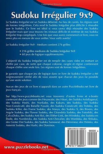 Sudoku Irrégulier 9x9 - Medium - Volume 3 - 276 Grilles