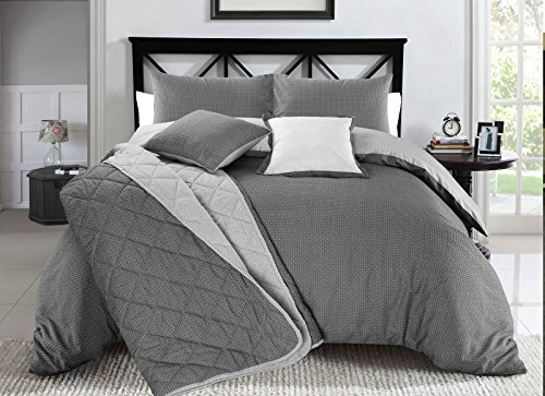 Nimsay Home Christian Geometric Black & White Reversible Style Print Duvet Cover & Pillowcase Set - King