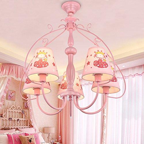 Gute Kronleuchter Rosa Kinderzimmer Kronleuchter kreative Karikatur Kunst Auge Pflege Studie LED leuchtet Prinzessin Mädchen Schlafzimmer Lichter