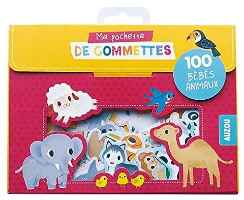 100 gommettes bebes animaux (coll. ma pochette de