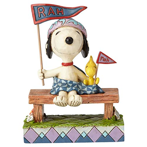 ENESCO Peanuts by Jim Shore Figur Snoopy and Woodstock Bleacher Buddies, 10,8 cm, Mehrfarbig -