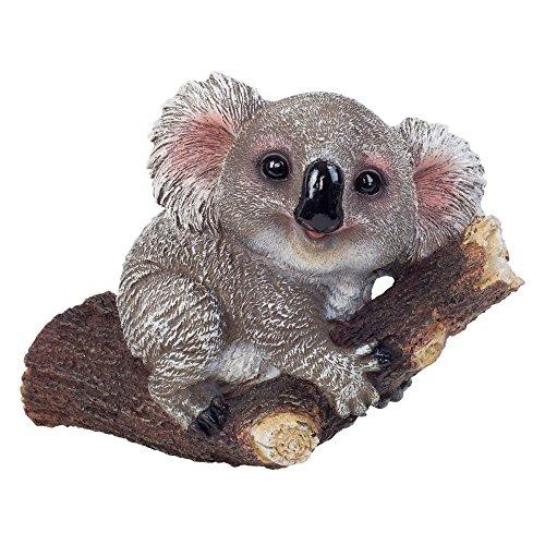 Grauer Koala Bär Baum oder Wand Deko Figur für den Garten (Kleine Jungs-wand-dekor)