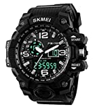 #4: SKMEI Analog-Digital Black Dial Men's Watch-AD1155 (BK WHITE)