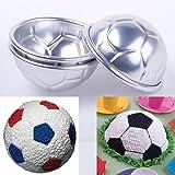 CFPACR 2Pcs Fu?Ball-Design Kochen SchimmelPilze Bakeware K¨¹Che Brot Kuchen dekorieren Werkzeug-Silber