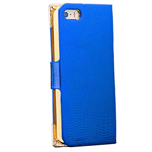 ICues aM38 aspect pierres sTRASS pour apple iPhone 5/5S bleu