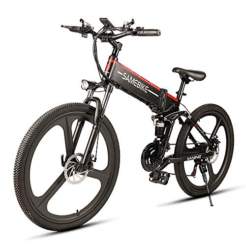 Lixada Bicicleta Eléctrica Plegable Motor 350W 48V con Rueda 26 Pulgadas E-Bike Scooter de Llanta Combinado