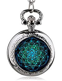 ShopyStore 38 Fashion Silver Stainless Steel Tree Of Life Chain Luminous Pocket Watch Necklace WOM