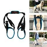Tineer Imbracatura per cani per zampe posteriori Imbracatura per animali domestici Imbracatura posteriore Aiuto Gambe deboli Stand up Supporto Imbragatura per cani per riabilitazione per l'artrite (S)