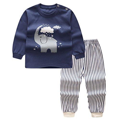 3 Stück Petite Anzug (Kinder Baby Toddler Schlafanzug Pyjama Set Shirt + Hosen Kleinenkind Schlaf Änzuge Nachtwear Suit Jungen Mädchen Baumwolle Pyjamas Sleepwear für Herbst Winter Frühling Juleya)