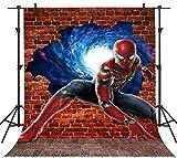 1,5x 2,1m Superhero Fond de Photographie Fond Spider Man Enfants garçons Enfants sur Le thème de Fond Studio Youtube Facebook Props Lfph019Phmojen...