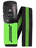 Luggage Strap ELASTRAAP Superior Strength NON-SLIP with TSA Combination Lock - Available in 8 Colours