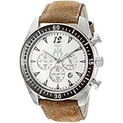 Jivago Men's 'Timeless' Quartz Stainless Steel Casual Watch, Color:Brown (Model: JV4512)
