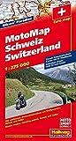 MotoMap Schweiz 1 : 275 000 (Hallwag Freizeitkarten)