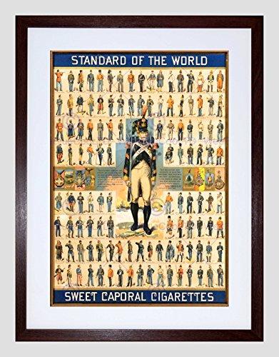 Preisvergleich Produktbild AD CIGARETTE TOBACCO SMOKE STANDARD WORLD SWEET CAPORAL FRAMED PRINT B12X5611