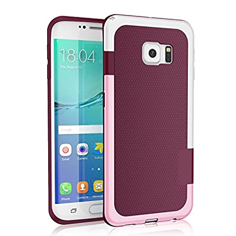 Galaxy S6 edge Case, 3 Color Hybrid Dual Layer Shockproof Case [Extra Front Raised Lip] Soft TPU & Hard PC Bumper Protective Case Cover for Samsung Galaxy S6 Edge SM-G925F