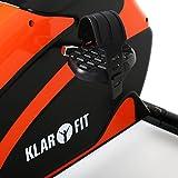 Klarfit Relaxbike 5G Ergometer Liegefahrrad, Ausdauertraining im Liegen (belastbar max. 100kg, 5kg Schwungmasse, Handpulsmesser, großes LCD-Display) schwarz-orange oder schwarz grün - 3