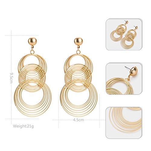 nge Europa Und Die Vereinigten Staaten Retro Übertriebene Ohrringe Schichteten Einfache Ohrringfrauen Wilde Natürliche Ohrringe (Einfach Gegenüber Kostüme)