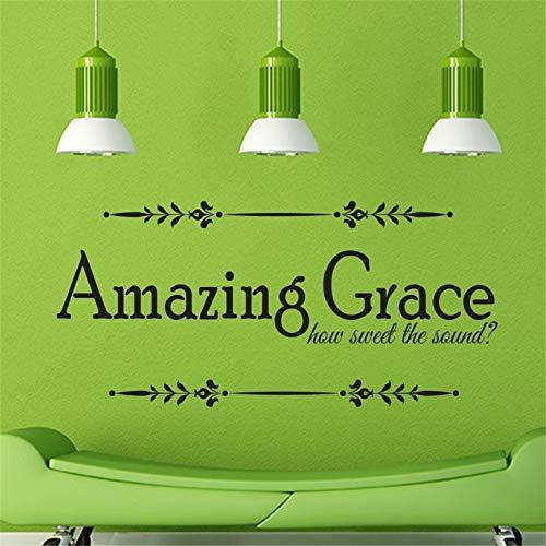 wandaufkleber kinderzimmer tiere Erstaunliche Gnade, wie süß der Klang Bibel-Vers-Schrift-frommes Zitat