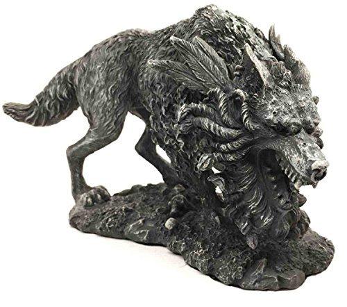 Gifts & Decor Viking nordischen Mythologie Fenrir Vánagandr Riesen Wolf Figur Poetic Edda Statue