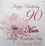 White Cotton Cards wba90-mum Rosa Gerbra