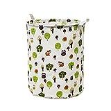 Rameng 42 l Wasserabweisende Beschichtung Stoff Korb Wäschekorb faltbar Aufbewahrungskorb aus Stoff Aufbewahrungstasche