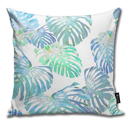 Zara-Decor Monstera Jungle Oceania Jumbo Funda de cojín Decorativa para el hogar,...