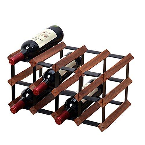 JJJJD 12 15 18 Flasche frei stehend Weinregal Holz Cabinet-Sturdy Vintage-Stil Flaschenhalter, Weinschrank Lagerung, Weinflaschen Organizer auf Tisch (größe : 12 Bottle)