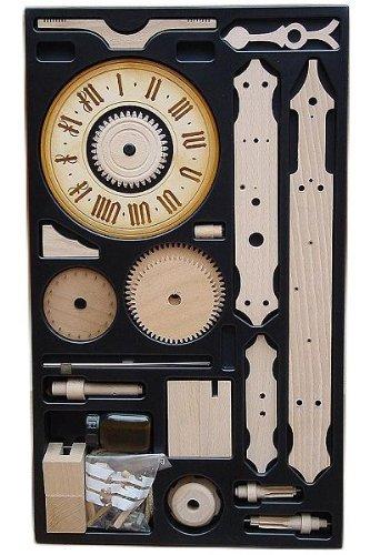 Eble Mechanische Skelettuhr mit Holzräderwerk Bausatz/Kit Waagbalkenuhr- 1/10