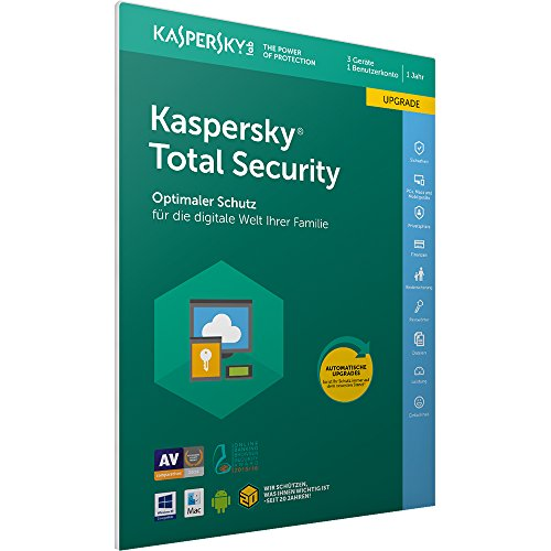Kaspersky Total Security 2018 Upgrade | 3 Geräte | 1 Jahr | Windows/Mac/Android | Download Damen 7 Support