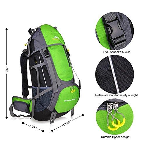 Imagen de macbag  de excursión resistente al agua daypack 40l 55l para camping, trekking y escalada verde, 55l  alternativa
