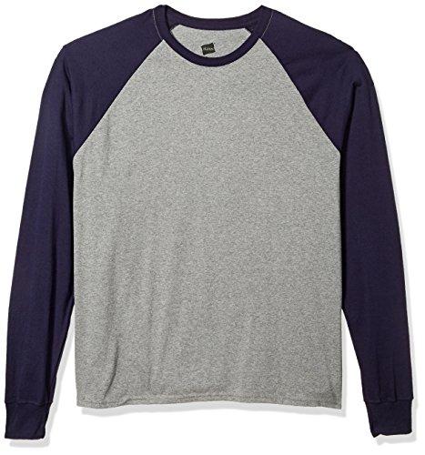 Hanes Herren Langarm ComfortBlend Raglan Tri-Blend Tee Extended Size - Mehrfarbig - XX-Large (Hanes Langarm-t-shirts Für Männer)