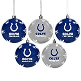 Indianapolis Colts 5 Pk Shatterproof Ball Ornaments
