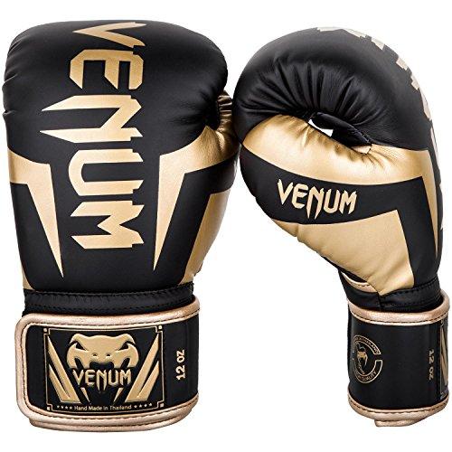 Venum Elite Boxhandschuhe, Schwarz / Gold, 10oz