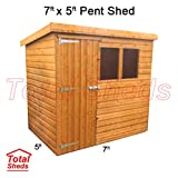 Total Sheds 7ft (2.1m) x 5ft (1.5m) Shed Pent Shed Garden Shed Timber Shed