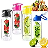 Laptone Leak Proof Fruit Infuser Unisex Outdoor Water Bottle available in Black