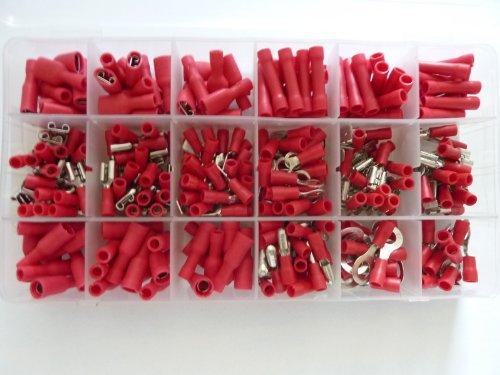Preisvergleich Produktbild SK-DV 300 Kabelschuhe Sortiment rot für Kabel mit 0, 5mm² - 1, 5 mm² SK