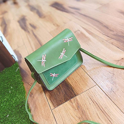 Bzline® Borsa A Tracolla Con Tracolla Da Donna, 18cm * 16cm * 6cm Verde