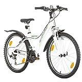 24Pulgadas CULT de la UE del juvenil Rueda de bicicleta Bike Cycling-Bicicleta para mujer niño-Bicicleta infantil de niña bicicleta mountain bike MTB Shimano 18marchas. Blanco mat