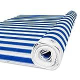 casa pura Balkon Sichtschutz UV-Schutz   90x500cm   wetterbeständiges und pflegeleichtes HDPE-Spezialgewebe   blau-weiß gestreift