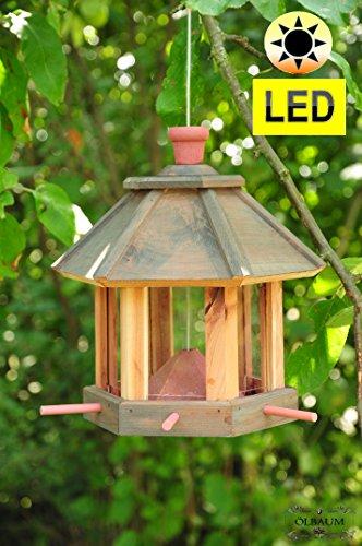 Voliera, fodera casa-Fodera station, con/senza illuminazione giardino, casetta per uccelli casette per uccelli voliera, fodera (Fiorentina Giardino)