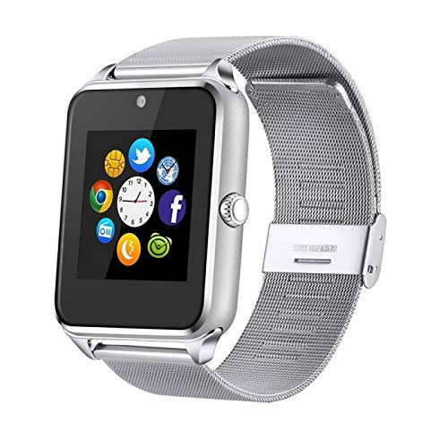 pcjob Smart Watch Z60 Orologio Telefono Bluetooth per XIAOMI REDMI Note 5 Silver