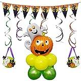 Storagc Halloween 18PCS Conjunto de globos Globo de aluminio Celebración de vacaciones Decoración de fiesta Diseño de escena Decoraciones de fiesta temáticas Halloween Decoración