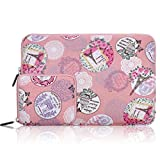 ARVOK 15-15.6 Pouces Housse Ordinateur Portable avec Pochette Supplémentaire pour Macbook Air, Laptop, Ultrabook, Netbook et Tablette - Romantique Rose