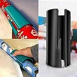 AOLVO Geschenkpapier Cutter, Schieben Geschenkpapier Cutter Mini Portable Einzigartiges Rollenpapier-Schneidwerkzeug - Sicheres und einfaches Schneiden Perfekte Linie Schwarz