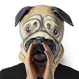 Máscara de Látex:Máscara de cabeza de traje de látex para niños y adultos que asisten a fiesta temática (perro)