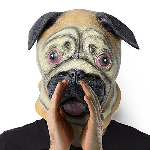 Hund Tiermaske: Latex-Kostüm-Kopfmaske für Kinder und Erwachsene an der Theme Party (Hund)