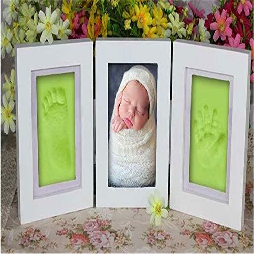 SONGHJ Baby Fotorahmen DIY Footprint Handprint Impressum Besetzung Geschenkset Bild mit weicher Tondecke Geschenk für Kind Vintage Vogue-fotos